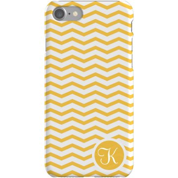 Initial iPhone Case Plastic iPhone 5 Case White