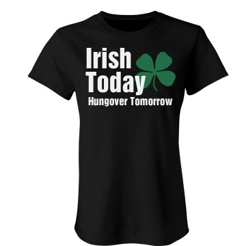 Irish Today Junior Fit Bella Sheer Longer Length Rib Tee
