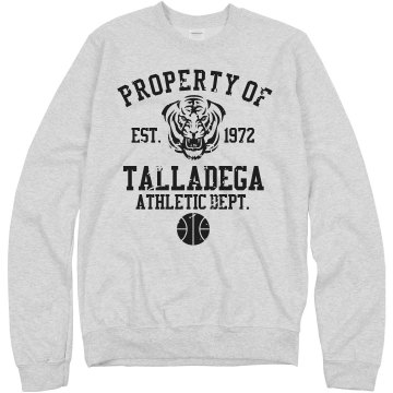 Property of Talladega Unisex Hanes Crew Neck Sweatshirt