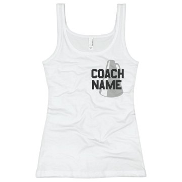 Cheer Coach Megaphone Junior Fit Basic Bella 2x1 Rib Tank Top