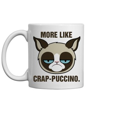 Grumpy Cat Cappuccino 11oz Ceramic Coffee Mug