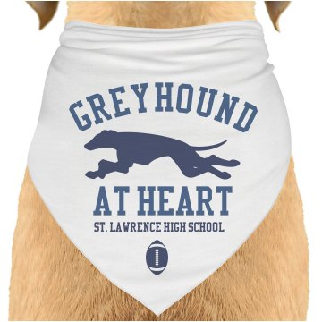 Greyhound At Heart Dog Bandana