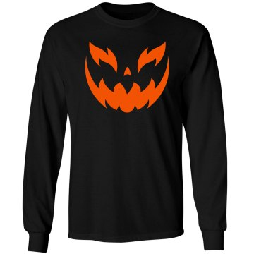 Human Pumpkin Unisex Gildan Heavy Cotton Long Sleeve Tee