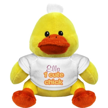 One Cute Chick Plush Duckie