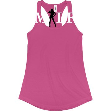 MILF Sexy Lady Junior Fit Bella Sheer Longer Length Rib Racerback Tank Top