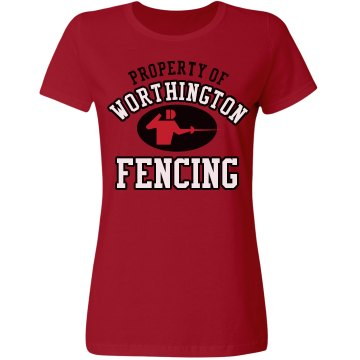 Worthington Fencing Misses Relaxed Fit Gildan Ultra Cotton Tee