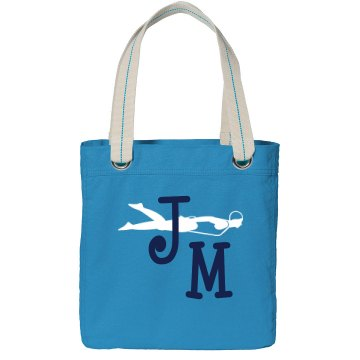 Initials Swim Tote Port Authority Color Canvas Tote