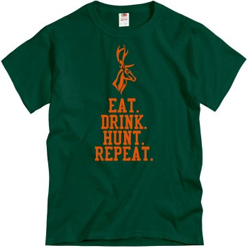 Deer Hunting T-Shirt Unisex Gildan Heavy Cotton Crew Neck Tee