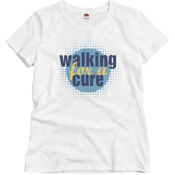 Walking For A Cure Misses Relaxed Fit Basic Gildan Ultra Cotton Tee