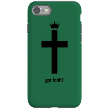 Got Faith Cross Design Rubber iPhone 4 & 4S Case Black