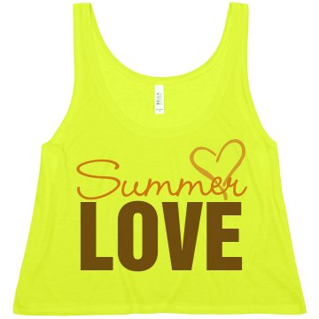 Summer Love Misses American Apparel Neon Oversized Crop Tank