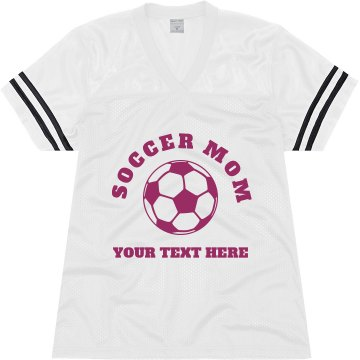 Soccer Mom Jersey Junior Fit Soffe Mesh Football Jersey