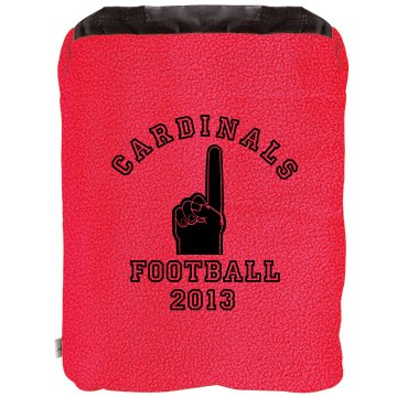 Football Blanket 2-in-1 Poly Fleece Pillow Blanket