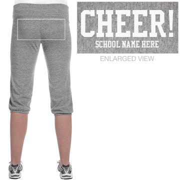 Cheer For Capris Junior Fit Soffe Fleece Capri