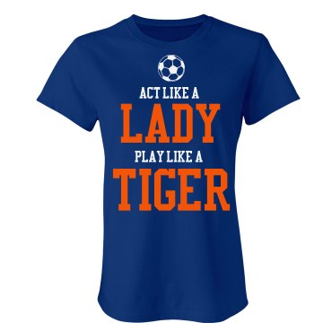 Play Like A Tiger Junior Fit Bella Sheer Longer Length Rib Tee