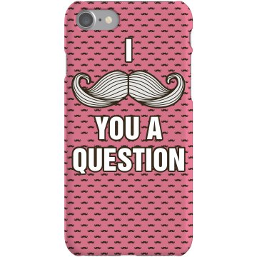Mustache A Question Case Plastic iPhone 5 Case Black