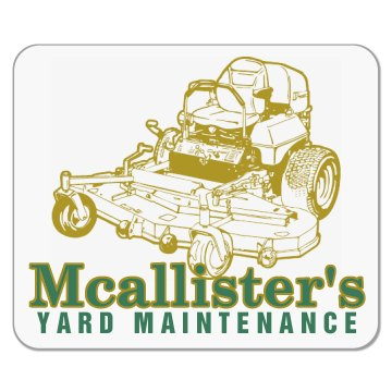 Gold Mower Landscaping Mousepad