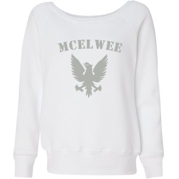 McElwee Junior Fit Bella Triblend Slouchy Wideneck Sweatshirt