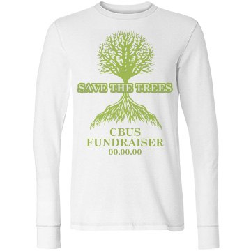 Save The Trees Junior Fit Bella Long Sleeve Thermal Tee