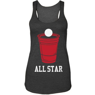 Beer Pong All-Star Case Rubber iPhone 4 &amp; 4S Case Black