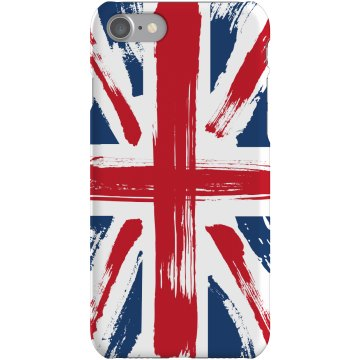 Painted UK Flag Case Plastic iPhone 5 Case Black