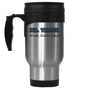 Worth Middle School Mug 14oz Stainless Steel Travel Mug