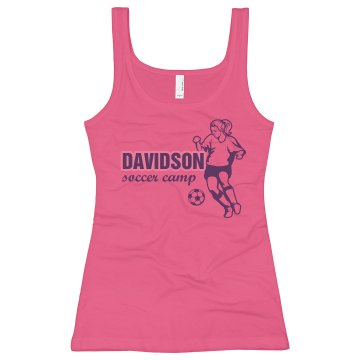Davidson Soccer Camp Junior Fit Soffe 2x1 Rib Tank Top