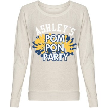 Ashley's Pom Pon Party Junior Fit Bella Sheer Longer Length Scoopneck Tee