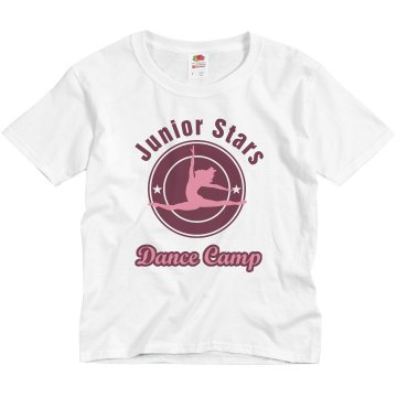 Junior Stars Dance Camp Youth Basic Gildan Ultra Cotton Crew Neck Tee