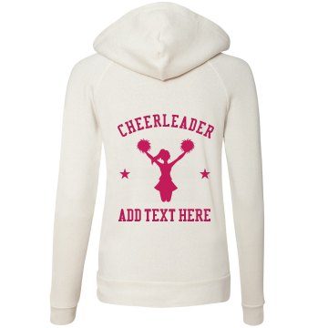 Cheer Squad Hoodie Junior Fit Bella Fleece Raglan Zip Hoodie