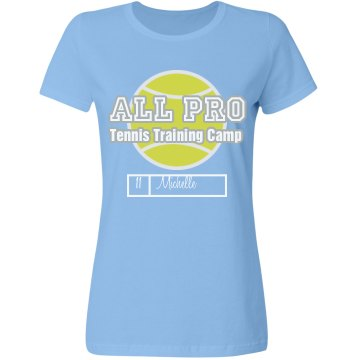 All Pro Tennis Camp Misses Relaxed Fit Gildan Ultra Cotton Tee