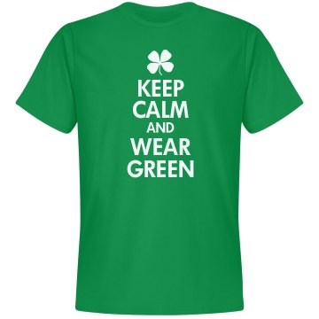 Keep Calm & Wear Green Unisex Gildan Heavy Cotton Crew Neck Tee