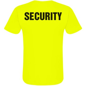 Neon Security T-Shirt Unisex American Apparel Neon Crew Neck Tee