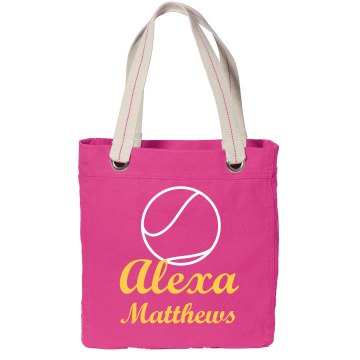 Alexa Custom Softball Port Authority Color Canvas Tote