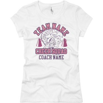Aztec Cheer Coach Junior Fit Basic Bella Favorite Tee