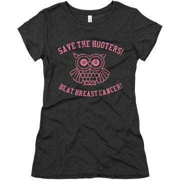 Save The Hooters Junior Fit Bella Triblend Tee