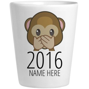 2013 Personalized Shot Ceramic Shotglass