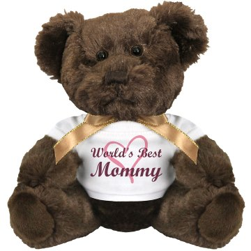 World&#x27;s Best Mom Bear Medium Plush Teddy Bear