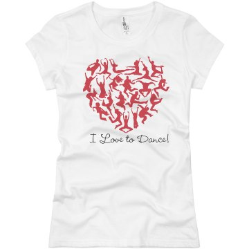 I Love To Dance Junior Fit Basic Bella Favorite Tee