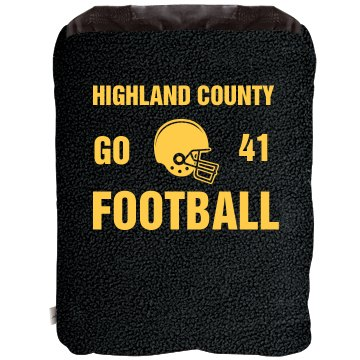Football Fan Blanket 2-in-1 Poly Fleece Pillow Blanket