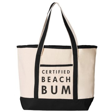 Beach Bum Distressed Liberty Bags Canvas Bargain Tote Bag