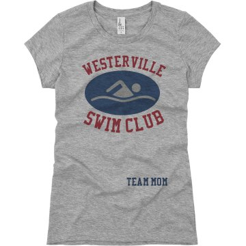 Westerville Swim Team Mom Junior Fit Basic Bella Favorite Tee