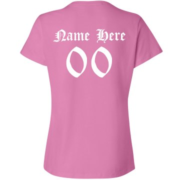 Breast Cancer Cure Walk Junior Fit Bella 1x1 Rib Cap Sleeve Raglan Tee