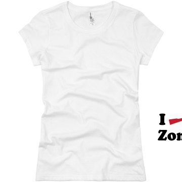I Shoot Zombies Junior Fit Basic Bella Favorite Tee