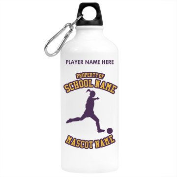 Property of Soccer Team Aluminum Water Bottle