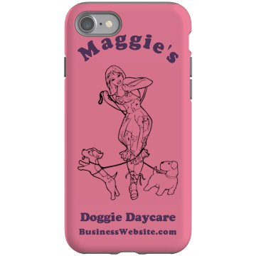 Doggie Daycare iPhone 4S Rubber iPhone 4 &amp; 4S Case Black