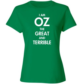 I Am Oz (With Back Print) Unisex Gildan Heavy Cotton Crew Neck Tee