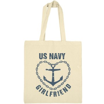 Navy Girlfriend Liberty Bags Canvas Bargain Tote Bag
