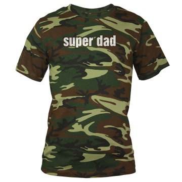 Super Dad Tee Unisex Code V Camouflage Tee