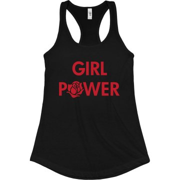 Girl Power Junior Fit Bella Sheer Longer Length Rib Racerback Tank Top